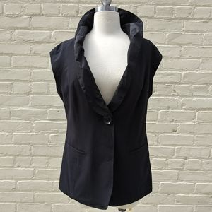 CAbi Size 8 Black Single Button Dinner Best